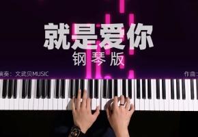 【钢琴】就是爱你(文武贝钢琴即兴演奏)