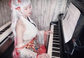【钢琴】《胧月夜》阴阳师·百闻牌ost  不知火的新技能是演奏?