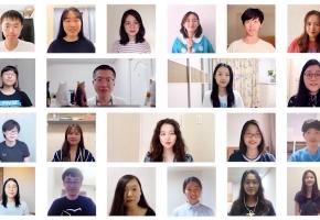 港大学子云合唱《你的答案》为高考生送祝福丨银河总会合唱团