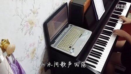 张杰 张靓颖《燕归巢》钢琴曲