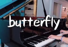 泪目!在琴行三角钢琴弹butterfly-数码宝贝OP,童年回忆!