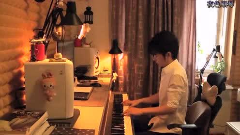 《梦中的额吉》夜色钢琴曲 赵海洋钢琴视频
