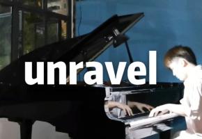 在施工现场三角钢琴弹《unravel》