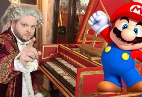 莫扎特用大键琴弹马里奥