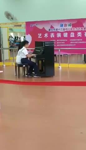Cindy然然 发布了一个钢琴弹奏视频,