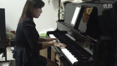 杨幂《爱的供养》视奏钢琴版
